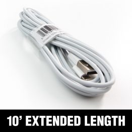 iSmashD 10' White Lightning Cable - extra long!