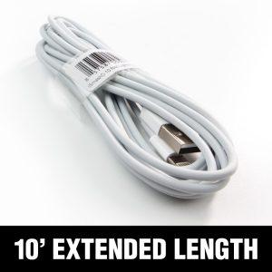iSmashD 10' White Lightning Cable - extra long!