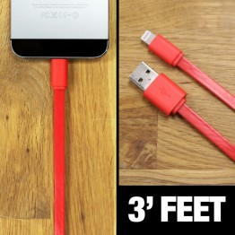 3' Flat Lightning Cable