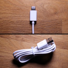 3' White Lightning Cable