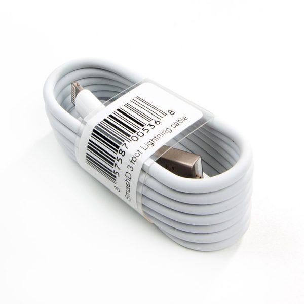 iSmashD White Lightning Cable - 3' Long