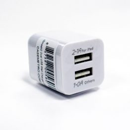 USB Dual Charger - White