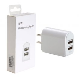 Dual USB Charger in Retail Packaging