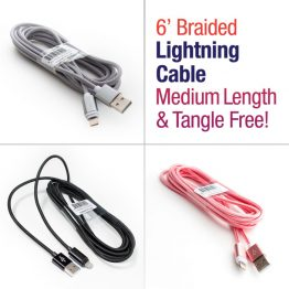 6 ft Braided Lightning Cable