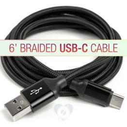 6' Braided USB-C Cable